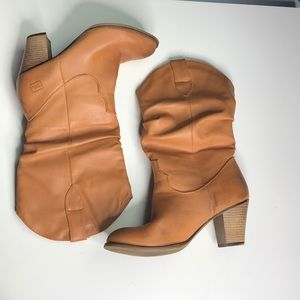 Dirty Laundry heeled faux distressed cowboy boots